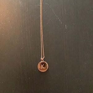 Kate Spade Rose Gold K necklace